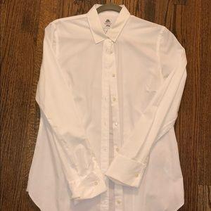 J crew white button up dress shirt